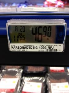 Plutselig var prisen gått opp i 46,90 - litt i overkant.